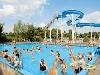 waterpret op vakantiepark blauwe meer